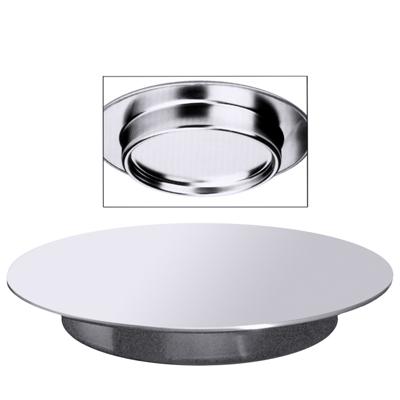 Konditorplatte/ Tortenplatte, D = 30 cm, H = 3,5 cm, EdSt. 18/10, matt poliert
