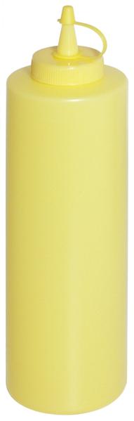 Quetschflasche m. Schraubdeckel, Fb. Gelb, Inhalt: 0,35 ltr., D: 5,5 cm H: 21 cm
