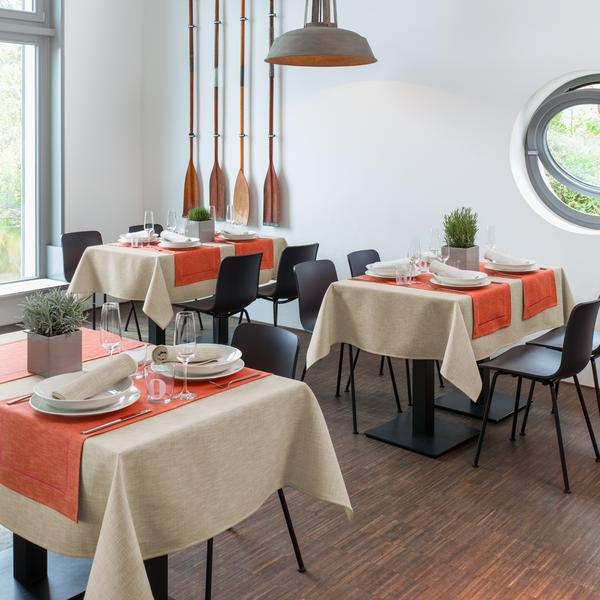 Moderne Tischwäsche tischdecke flaxy d pichler tischwäsche hotel gastronomie