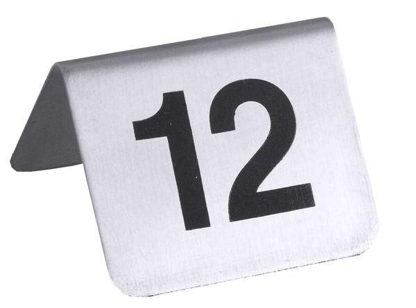 Tischnummernschild Nr. 13 - 24, 5,3 x 4,5 cm
