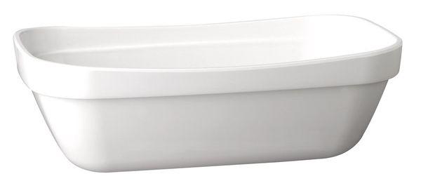 Schale Basket, 32,5 x 26,5 cm : GN 1/2, weiss, uni