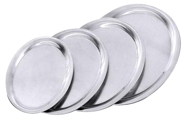 Serviertablett oval, Edelstahl, hochglänzend, L: 23 cm, B: 17,5 cm, H: 1,1 cm