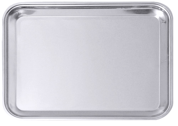 Tablett, rechteckig, hochglänzend, Edelstahl, 47/ 36,5/ 2 cm