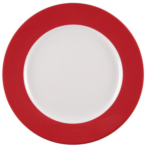 Seltmann Weiden, Meran Springcolors - Teller flach, 23604 rubinrot, 33 cm