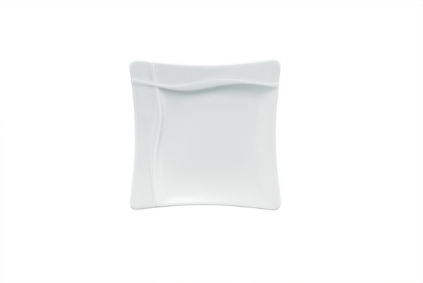 Bauscher, Pleasure - Teller flach Fahne quadratisch, weiss, uni, 31,9 x 31,9 cm