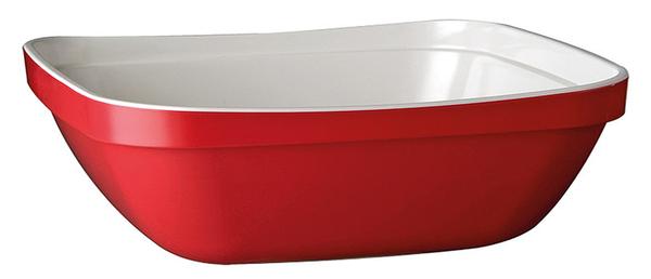 Schale Basket, 32,5 x 26,5 cm : GN 1/2, rot/ weiss, bi-color