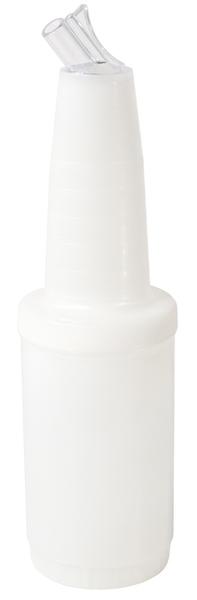 Mix-, Vorratsbehälter, D: 9 cm, H: 33,5 cm, I: 1,0 ltr., Fb. weiß