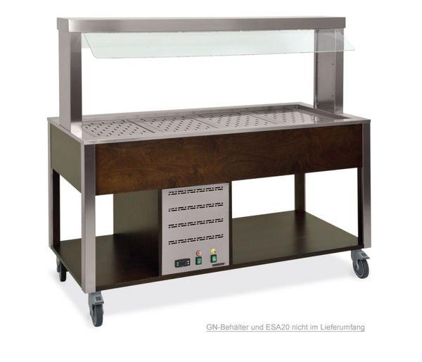 Buffet COOLTIC-V warm, Atemschutz fix und Neon 3x1/1 GN, Wenge