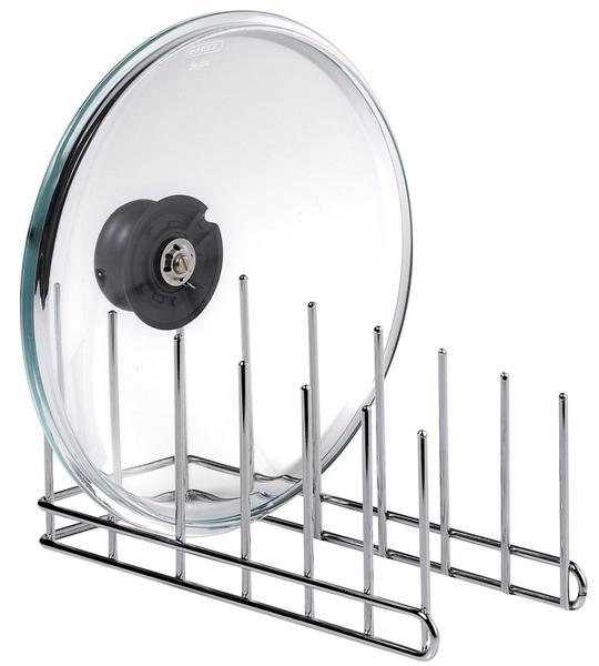 Abtropfgestell für max. 6 Deckel m. Durchmesser von 14 - 32 cm, Abmessung: 14/ 10/ 30 cm