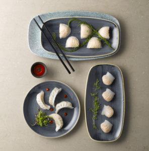 Schöne Alternative für klassische, runde weiße Teller aus Porzellan
